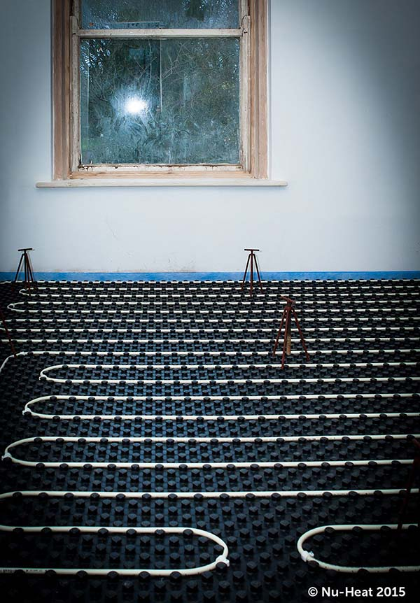 Nuheat underfloor heating installed